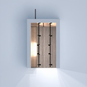 floorplans baldai dekoras sandėliukas prieškambaris 3d