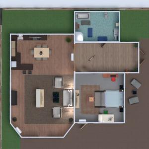 floorplans casa mobílias decoração banheiro quarto quarto garagem cozinha área externa iluminação utensílios domésticos sala de jantar arquitetura 3d