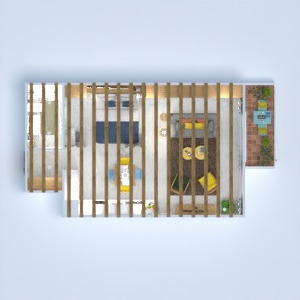 planos apartamento dormitorio salón cocina estudio 3d