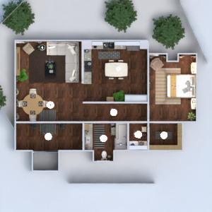 floorplans apartamento mobílias decoração faça você mesmo banheiro quarto cozinha utensílios domésticos cafeterias sala de jantar arquitetura despensa patamar 3d