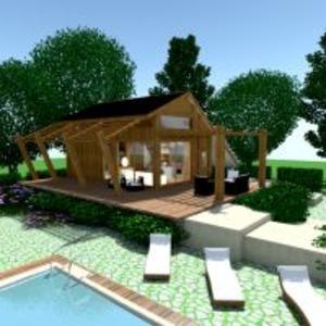 floorplans haus terrasse mobiliar badezimmer schlafzimmer wohnzimmer küche landschaft architektur 3d