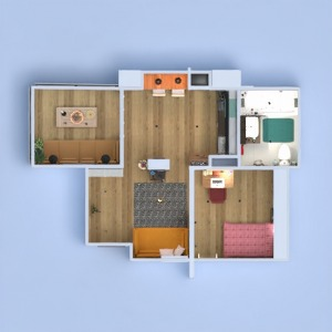 floorplans butas terasa baldai dekoras pasidaryk pats vonia svetainė virtuvė biuras apšvietimas valgomasis аrchitektūra prieškambaris 3d
