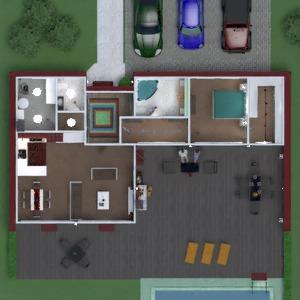 planos apartamento casa terraza muebles cuarto de baño dormitorio salón cocina exterior iluminación comedor arquitectura descansillo 3d