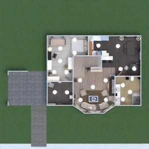floorplans house furniture decor bedroom living room kitchen dining room 3d