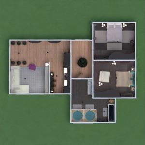 floorplans apartamento mobílias decoração banheiro quarto quarto cozinha iluminação 3d