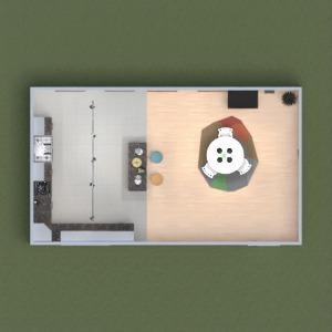 floorplans décoration cuisine eclairage 3d