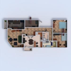floorplans apartment living room kitchen office 3d