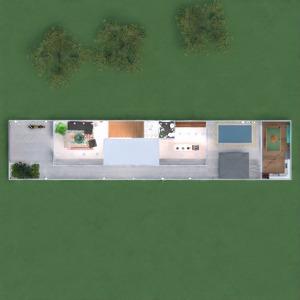 floorplans maison meubles décoration extérieur paysage 3d