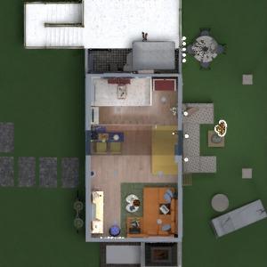 floorplans casa varanda inferior decoração quarto área externa 3d