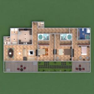 floorplans apartamento casa varanda inferior mobílias decoração faça você mesmo banheiro quarto quarto cozinha área externa iluminação reforma utensílios domésticos cafeterias sala de jantar arquitetura despensa estúdio 3d