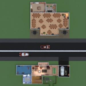 floorplans house terrace furniture decor bathroom bedroom living room garage kitchen kids room household dining room 3d