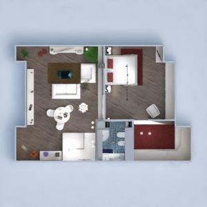 floorplans wohnung haus mobiliar schlafzimmer eingang 3d