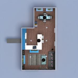 планировки квартира мебель декор гостиная кухня 3d