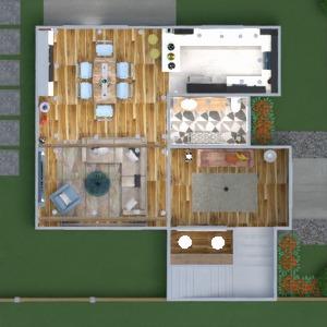 floorplans maison terrasse meubles décoration salle de bains chambre à coucher salon cuisine extérieur eclairage maison café salle à manger architecture espace de rangement entrée 3d