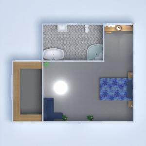 floorplans meubles décoration chambre à coucher bureau 3d