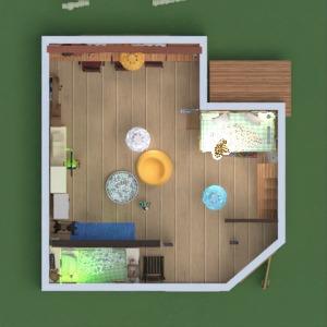 planos casa muebles decoración habitación infantil 3d