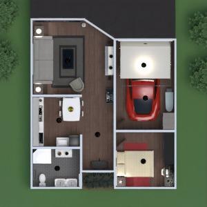 floorplans casa varanda inferior decoração quarto garagem cozinha área externa patamar 3d