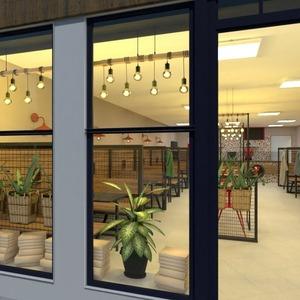 floorplans baldai apšvietimas renovacija kavinė sandėliukas 3d
