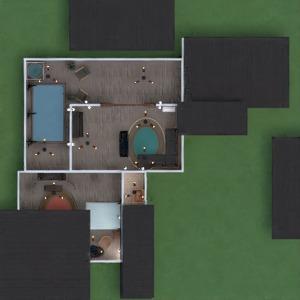 floorplans banheiro quarto quarto garagem cozinha paisagismo 3d