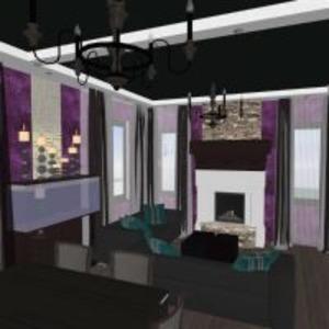 floorplans dom wystrój wnętrz pokój dzienny 3d