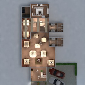 floorplans mobílias decoração faça você mesmo garagem cozinha área externa iluminação reforma utensílios domésticos cafeterias sala de jantar despensa patamar 3d