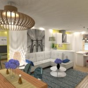 floorplans butas miegamasis svetainė virtuvė apšvietimas valgomasis 3d