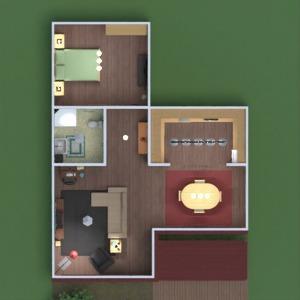floorplans dom taras meble sypialnia kuchnia na zewnątrz biuro oświetlenie krajobraz jadalnia wejście 3d