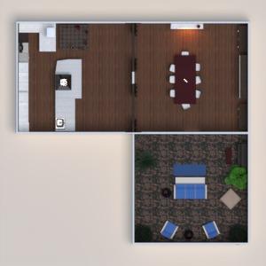 floorplans furniture decor dining room 3d