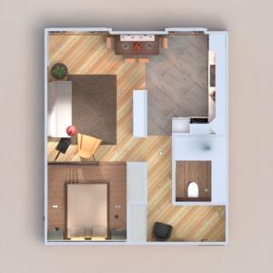 floorplans appartement salle de bains salon cuisine espace de rangement 3d