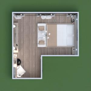 floorplans meble sypialnia oświetlenie 3d