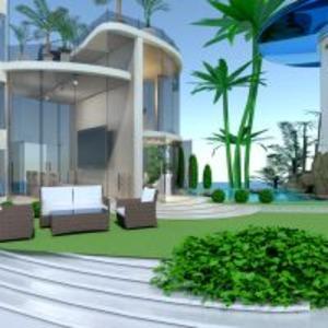 floorplans wohnung haus terrasse wohnzimmer outdoor beleuchtung landschaft architektur 3d