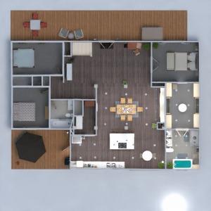 floorplans maison salon cuisine rénovation salle à manger 3d