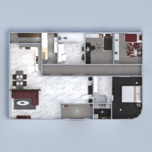 planos apartamento casa cuarto de baño dormitorio salón 3d