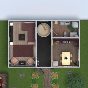 planos casa terraza muebles decoración cuarto de baño dormitorio salón cocina 3d