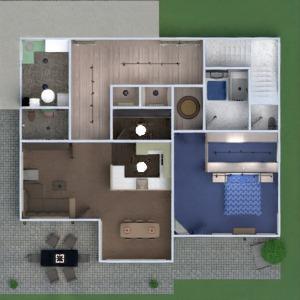 floorplans apartment house terrace furniture bathroom bedroom living room garage kitchen outdoor kids room dining room architecture 3d