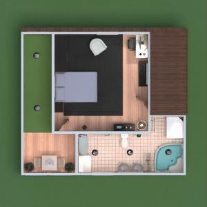 floorplans apartamento varanda inferior quarto área externa escritório iluminação utensílios domésticos sala de jantar patamar 3d