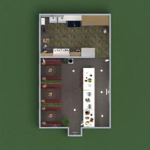 planos muebles decoración cocina iluminación reforma cafetería comedor arquitectura estudio 3d