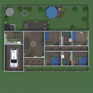 floorplans maison terrasse meubles décoration salle de bains chambre à coucher salon garage cuisine extérieur chambre d'enfant eclairage rénovation paysage espace de rangement entrée 3d