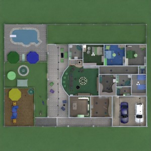 floorplans maison terrasse meubles décoration salle de bains chambre à coucher salon garage cuisine chambre d'enfant eclairage espace de rangement entrée 3d