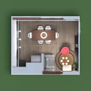 floorplans mieszkanie pokój dzienny kuchnia 3d
