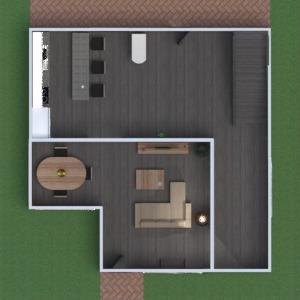 floorplans butas namas baldai vonia miegamasis svetainė virtuvė eksterjeras biuras valgomasis sandėliukas 3d