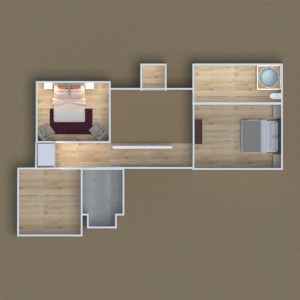 planos casa dormitorio 3d