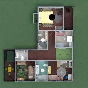 floorplans dom taras meble na zewnątrz pokój diecięcy 3d
