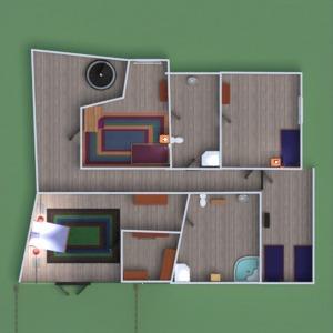 planos casa habitación infantil paisaje hogar comedor 3d