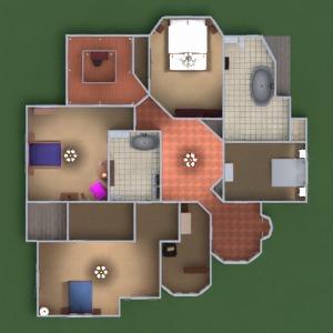 floorplans casa quarto utensílios domésticos patamar 3d