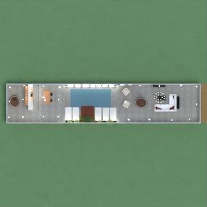 floorplans salle de bains chambre à coucher cuisine entrée 3d