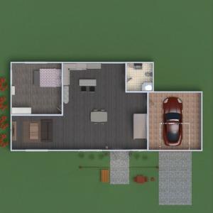 floorplans butas namas baldai vonia miegamasis svetainė garažas virtuvė eksterjeras biuras valgomasis 3d