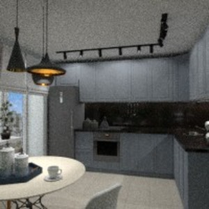 progetti appartamento arredamento decorazioni cucina illuminazione sala pranzo 3d