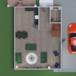 floorplans house terrace garage kitchen storage 3d