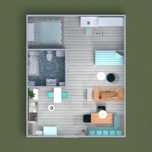 floorplans mieszkanie meble pokój dzienny kuchnia 3d